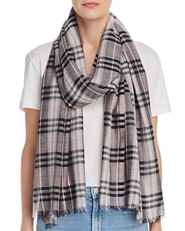 Burberry - Vintage Check Lightweight Wool & Silk Scarf
