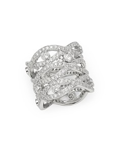 Roberto Coin - 18K White Gold Cento Diamonds Baci Ring