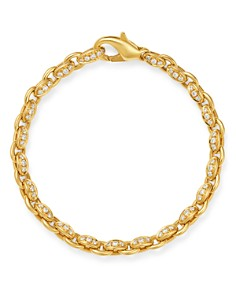 Roberto Coin - 18K Yellow Gold Amuletto Diamond Chain Bracelet