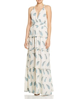 Ramy Brook - Toleda Leaf-Print Maxi Dress