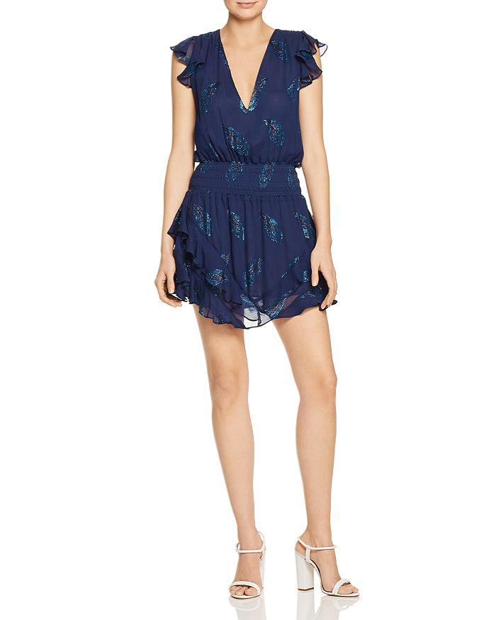 Ramy Brook - Simone Leaf-Print Mini Dress