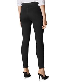 KAREN MILLEN - Button Detail Skinny Jeans in Black