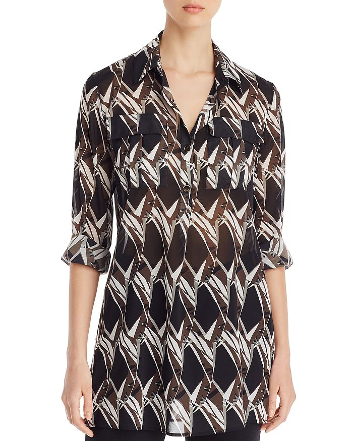 St. John - Abstract Floral Print Tunic