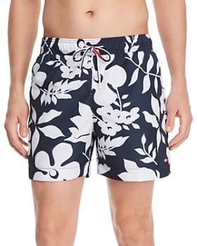 Tommy Hilfiger - Floral-Print Regular Fit Swim Shorts