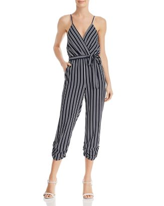 Striped Wrap Jumpsuit   100 Percents Exclusive by Aqua