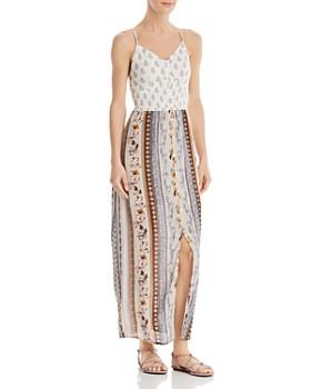 bab3bd0b6a6 AQUA - Mixed-Media Paisley   Floral Maxi Dress - 100% Exclusive ...