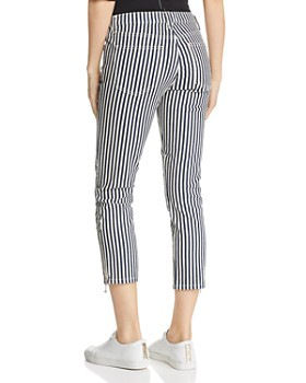 Current/Elliott - The Cropped Lexton Striped Jeans