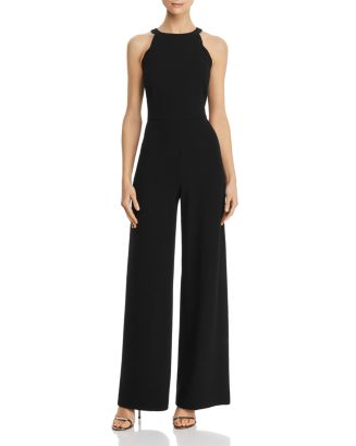 Scalloped Wide Leg Jumpsuit   100 Percents Exclusive by Adrianna Papell