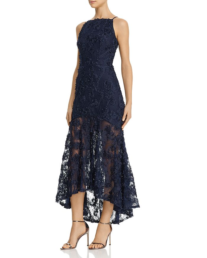 Avery G - Floral-Appliqué Maxi Dress