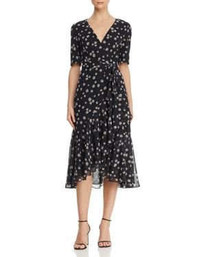 FAME AND PARTNERS | Fame and Partners Floral Wrap Dress | Goxip