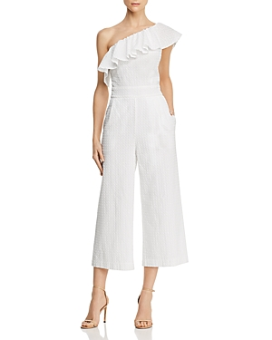 Laundry By Shelli Segal Suits LAUNDRY BY SHELLI SEGAL ONE-SHOULDER EYELET-LACE JUMPSUIT