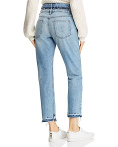 Hudson - Jessi Double-Waistband Boyfriend Jeans in Overthrow