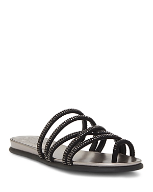 Vince Camuto Sandals WOMEN'S EZZINA CRYSTAL STRAPPY SANDALS