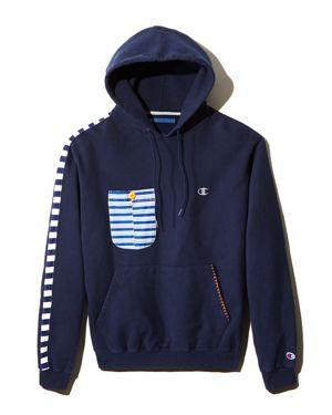 ATELIER & REPAIRS | Atelier And Repairs Patch-Pocket Hooded Sweatshirt - 100% Exclusive | Goxip