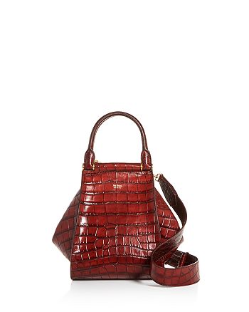 Max Mara - Anita Small Croc-Embossed Leather Tote