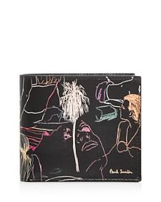 Paul Smith - Beach Sketch Leather Bi-Fold Wallet