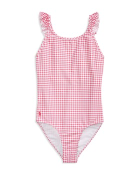 Ralph Lauren - Girls' Gingham One-Piece Swimsuit - Big Kid