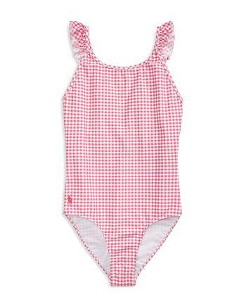 Ralph Lauren - Girls' Gingham One-Piece Swimsuit - Big Kid