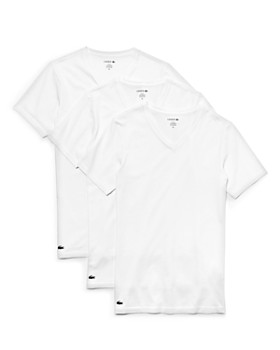 6a653b8c344b Lacoste - V-Neck Slim Fit Tee - Pack of 3 ...