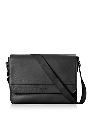 Shinola Signature Leather Slim Messenger Bag-Men