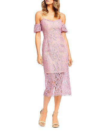 Dress the Population - Sacha Cold-Shoulder Lace Dress