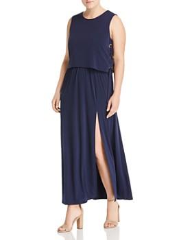 0ec3c4065e MICHAEL Michael Kors Plus - Lace-Up Maxi Dress ...