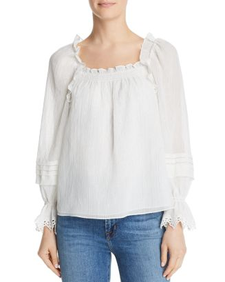 Ruffled Metallic Top by Rebecca Taylor