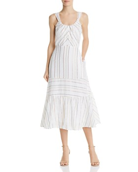 Rebecca Taylor - Metallic Striped Midi Dress
