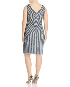 Adrianna Papell Plus - Embellished Pattern Sheath Dress