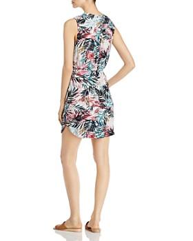 BeachLunchLounge - Sleeveless Botanical-Print Dress