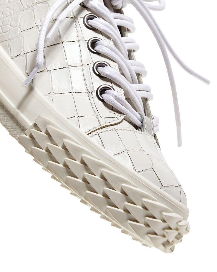 054fe66e5650b Giuseppe Zanotti Women's Blabber Croc-Embossed Low Top Sneakers ...
