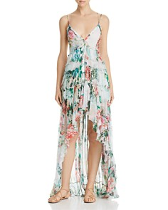 Rococo Sand - Floral High/Low Maxi Dress