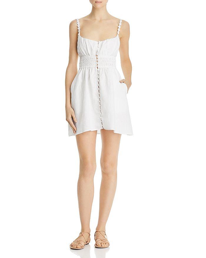 For Love & Lemons - Macaroon Button-Front Mini Dress