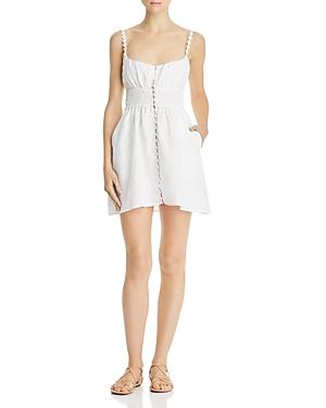 For Love & Lemons Dresses MACAROON BUTTON-FRONT MINI DRESS