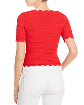 leRumi - Emery Scalloped Knit Top