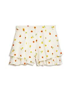 AQUA - Girls' Citrus Print Ruffled Shorts, Big Kid - 100% Exclusive