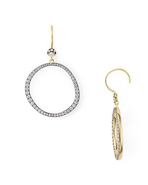 Nadri Sterling Villa Open Circle Drop Earrings in 18K Gold-Plated Sterling Silver