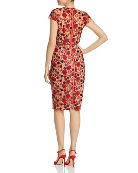 BRONX AND BANCO - Della Rouge Embroidered Floral Sheath Dress