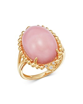 Bloomingdale's - Pink Opal & Diamond Statement Ring in 14K Yellow Gold - 100% Exclusive