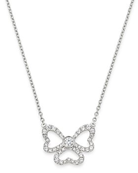 Bloomingdale's - Diamond Clover of Hearts Necklace in 14K White Gold, 0.50 ct. t.w. - 100% Exclusive