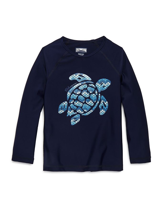 Vilebrequin - Boys' Glassy Gsy Turtle Graphic Rash Guard  - Little Kid, Big Kid