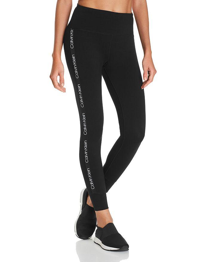Calvin Klein Performance Logo-trim Leggings In Black Combo | ModeSens