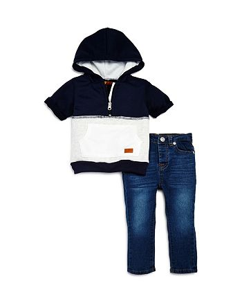 7 For All Mankind - Boys' Short-Sleeve Sweatshirt & Jeans Set - Baby