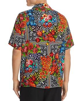 Versace Jeans Couture - Short-Sleeve Floral Optic-Print Regular Fit Shirt