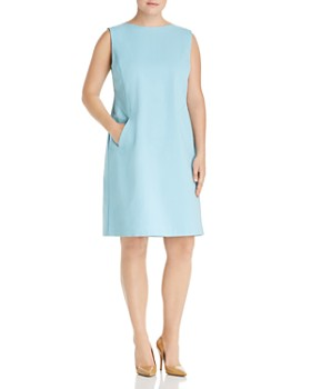 8234c0791c17 Lafayette 148 New York Plus - Ensley Sleeveless Shift Dress ...