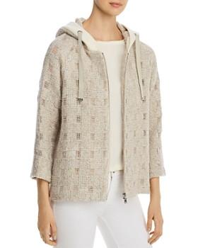 Herno - Hooded Metallic Tweed Windowpane Jacket - 100% Exclusive