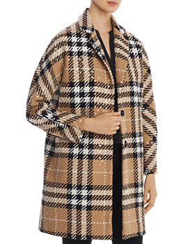 Herno - Sequined Plaid Coat