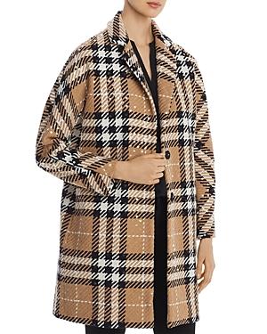 Herno Sequined Plaid Coat-Women