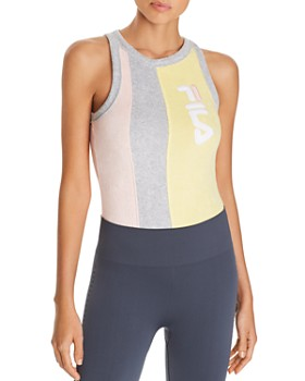 FILA - Dahlia Color-Block Terry Bodysuit