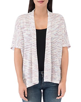 B Collection by Bobeau - Striped Helena Open Cardigan